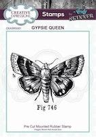 "Andy Skinner Rubber Stamp ""Gypsie Queen"""