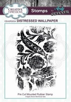 """Andy Skinner Rubber Stamp """"Distressed Wallpaper"""""""