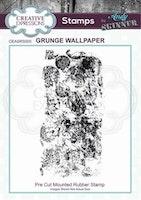 "Andy Skinner Rubber Stamp ""Grunge Wallpaper"""