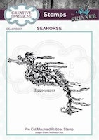 """Andy Skinner Rubber Stamp """"Seahorse"""""""