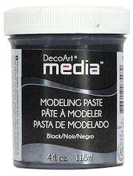 """DecoArt Modeling Paste """"Black"""" 118ml"""