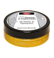 """Viva Decor 3D Stamp-and Paperpaint """"Gold"""""""
