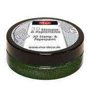 """Viva Decor 3D Stamp-and Paperpaint """"Mos Green Metallic"""""""
