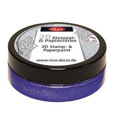 "Viva Decor 3D Stamp-and Paperpaint ""Violet Metallic"""