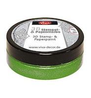 "Viva Decor 3D Stamp-and Paperpaint ""Grasgreen Metallic"""
