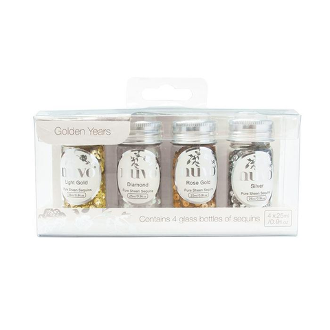 """Nuvo Pure Sheen 4 Pack """"Golden Years Glitter"""""""
