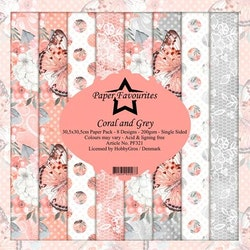 """Paper Favourites Paper Pack """"Coral and Grey"""""""