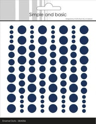 "Enamel Dots ""Dark Blue"