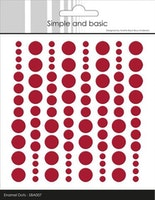 "Enamel Dots ""Chili Red"