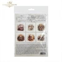 Itd Collection Rice decoupage paper- 6 stycken bilder