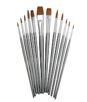 Nuvo Paint Brush Set - 12 PCS