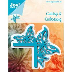 JOY CUT / EMB - Corner with butterflies  - Dies