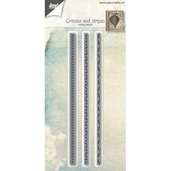 OY CUT / EMB - Crosses and stripes - Dies