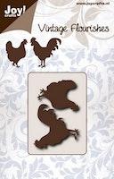 Joy - Flourishes Chicken & Cock dies