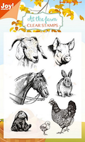 """Jou Clearstamp At the farm """"Pig, sheep"""