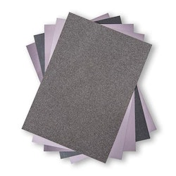 """Sizzix Glitter/Glans  Cardstock """"Charcoal""""   A4 - 5 ark"""