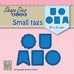 NS SHAPE DIES BLUE - Small tags