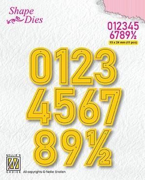 NS SHAPE DIES - Numbers Large