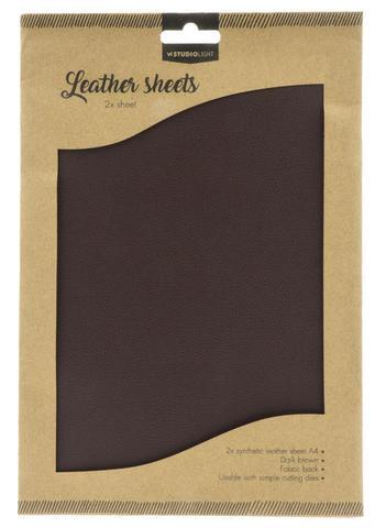 "Studio Light Fake Leather ""Dark Brown"" 2 x A4"