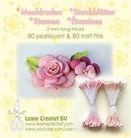 Pistiller 2 mm 80 matta + 80 pärlemo - Rosa