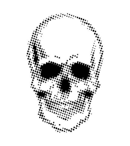 "Andy Skinner Stencils ""Half Tone Skull"""