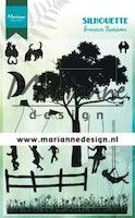 MARIANNE DESIGN CLEARSTAMP -  Silhouette Summer Romance