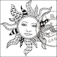 MARIANNE DESIGN STÄMPEL -  Doodle Sun