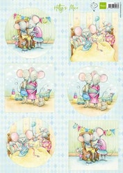 MARIANNE DESIGN 3D ARK - Hetty's Mice new born