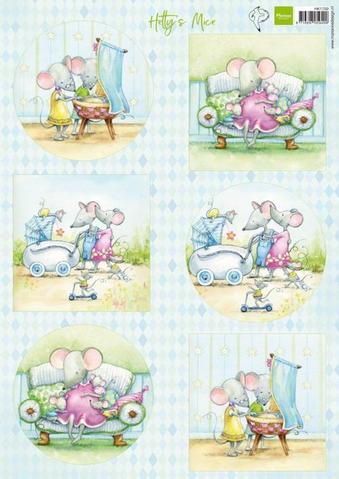 MARIANNE DESIGN 3D ARK -  Hetty's Mice Baby