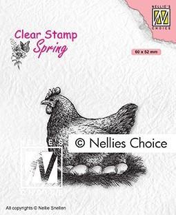 """NS CLEARSTAMP """"Mother Hen"""""""