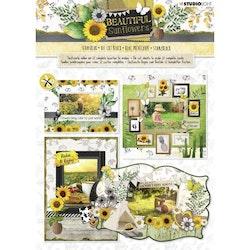Studiolight Die Cut block  - Beautiful Sunflowers