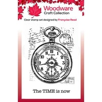 """Woodware Clearstamp """"Pocket Watch"""""""