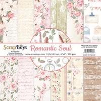 ScrapBoys Romantic Soul paperpad 24 sh+cut out elements-DZ