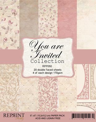 Your are invited - Collection pack 6 x 6
