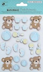 3D Stickers med Glitter - Little Hands Tiny Feet