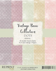 """Vintage Collection Pack Dots 6x6"""""""