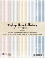 """Vintage Collection Pack Stripes 6x6"""""""