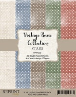 """Vintage Collection Pack Stars 6x6"""""""