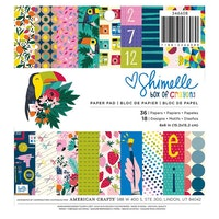 Shimelle Paper Pad 6X6 36/Pkg - Box Of Crayons