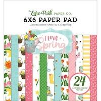 Echo Park  Paper Pad 6X6 - I Love Spring