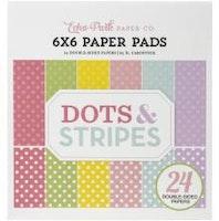 Echo Park Paper Pad 6X6 24/Pkg - Dots/Stripes Spring