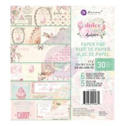 Prima Double-Sided Paper Pad 6X6 30/Pkg - Dulce