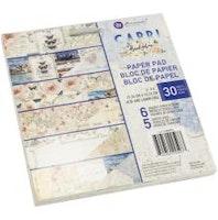 Prima Double-Sided Paper Pad 6X6 30/Pkg - Capri