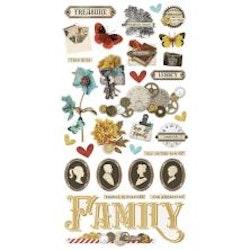 Simple Stories Chipboard Stickers 6X12 - Simple Vintage ...