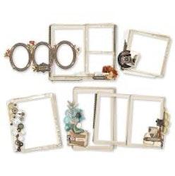 Simple Stories Layered Frames 6/Pkg - Simple Vintage ...