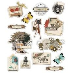 Simple Stories Layered Stickers 14/Pkg - Simple Vintage ...