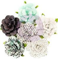 Prima Flirty Fleur Mulberry Paper Flowers 6/Pkg - Dots ...