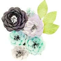 Prima Flirty Fleur Mulberry Paper Flowers 8/Pkg - Simplicity