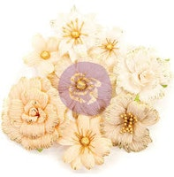 Prima Marketing Pretty Pale Paper Flowers 8/Pkg - ...