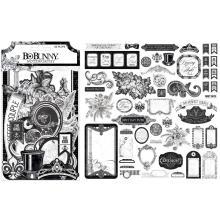 BoBunny Noteworthy Die-Cuts 55/Pkg - Tuxedos & Tiaras